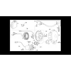 Ecrou d'allumage M12x100 - Aprilia 125 - APRILIA OEM AP0242515. Aprilia OEM