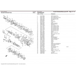 Roulement cage acier 25x62x17 - Aprilia RS 250 / Suzuki RGV 250 - KOYO 6305/C3