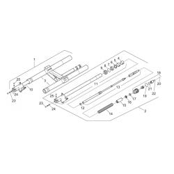 Bague inférieure de guidage fourche Aprilia RS 250 Mk2 - 1998/2003 - APRILIA OEM FMBI41201P RACE TECH