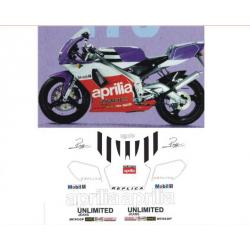 Kit adhésifs Aprilia Extrema 125 - 1992 - Reggiani Replica DEC00000369 DECALMOTO