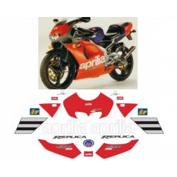Kit adhésifs Aprilia RS 125 - Reggiani Replica - 1995 DEC0000019040 DECALMOTO